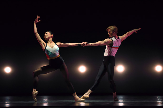 Frances Chung and Gennadi Nedvigin in Justin Peck's <I>In The Countenance Of Kings</I>.<br />© Erik Tomasson. (Click image for larger version)