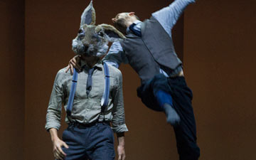Bradley Waller and Harry Price in Pontus Lidberg's Rabbit.© Foteini Christofilopoulou. (Click image for larger version)