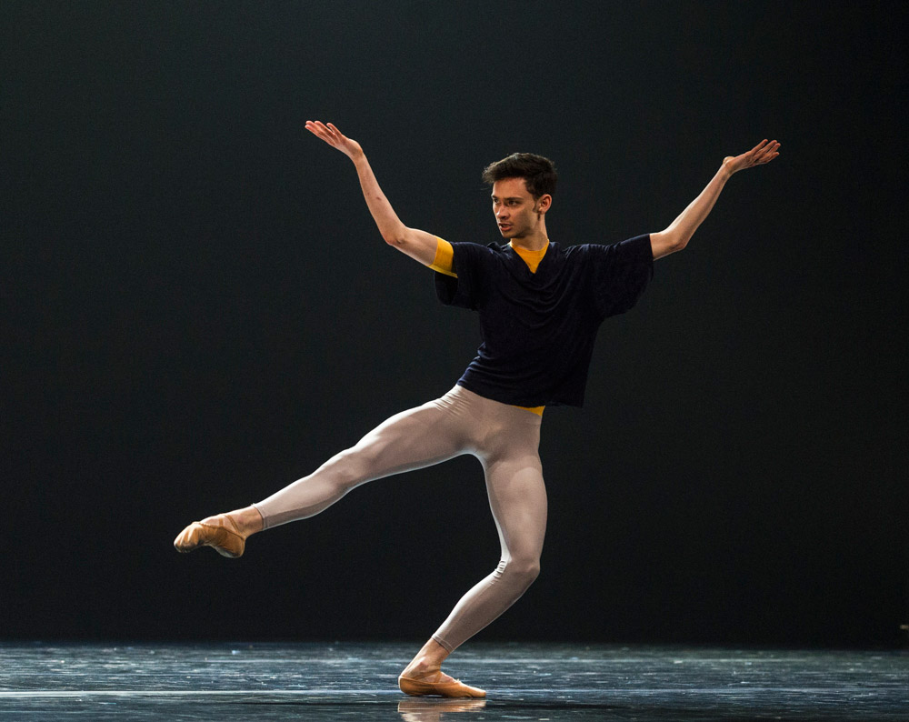 Gregory Lau in Hans van Manen's Solo.© Foteini Christofilopoulou. (Click image for larger version)