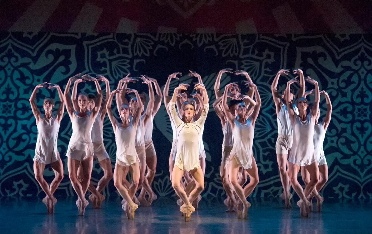 Miami City Ballet in Justin Peck's Heatscape.© Gene Schiavone. (Click image for larger version)