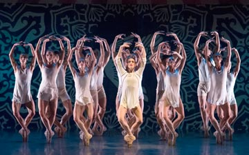 Miami City Ballet in Justin Peck's Heatscape.© Gene Schiavone. (Click image for larger version)