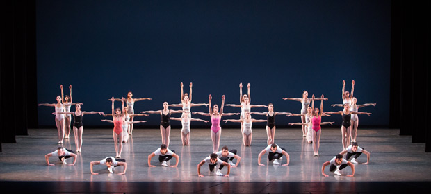 Miami City Ballet in <I>Symphony in Three Movements</I>.<br />Choreography by George Balanchine, © The George Balanchine Trust.<br />© Sasha Iziliaev. (Click image for larger version)