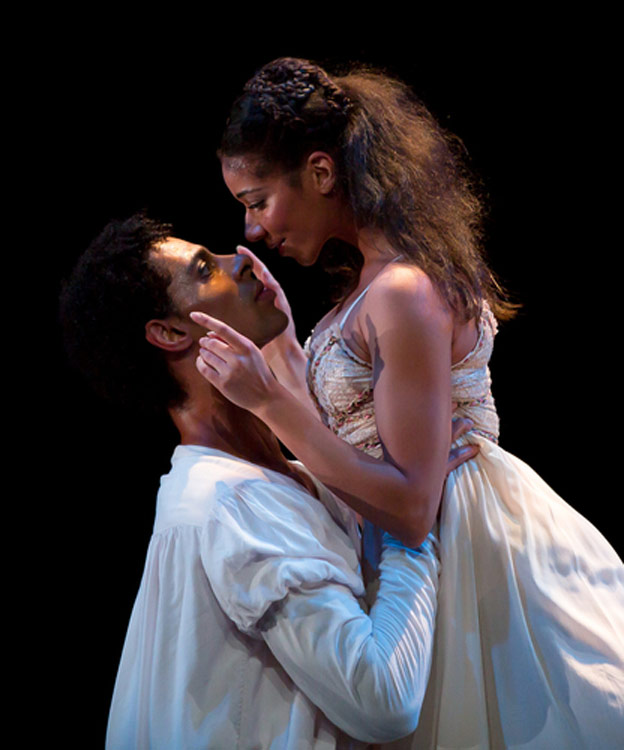 Céline Gittens and Tyrone Singleton in Kenneth MacMillan's Romeo and Juliet.© Andy Ross. (Click image for larger version)