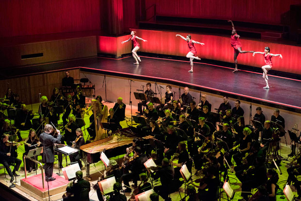 Philharmonia Orchestra & Armitage Gone! Dance performing <I>Agon</I>.<br />© Camilla Greenwell Photography. (Click image for larger version)