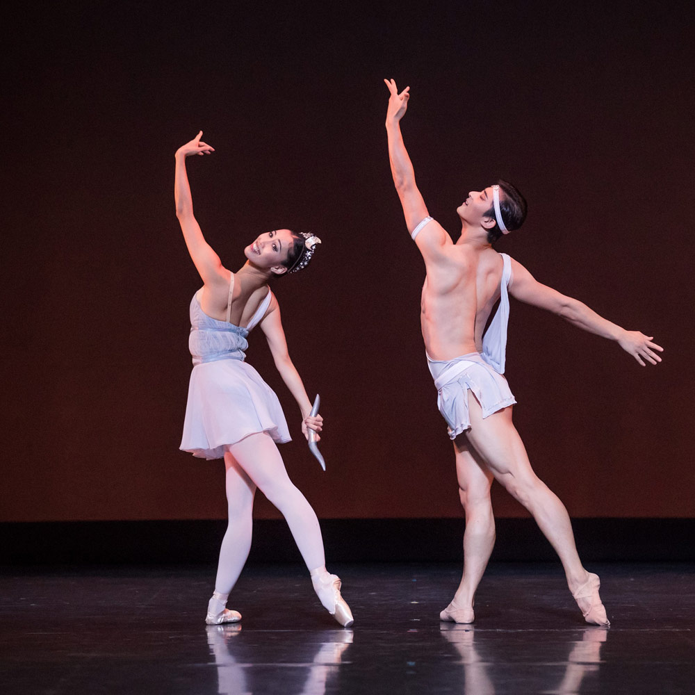 Ako Kondo and Chengwu Guo in Diana and Acteon pdd.© Daniel Boud. (Click image for larger version)