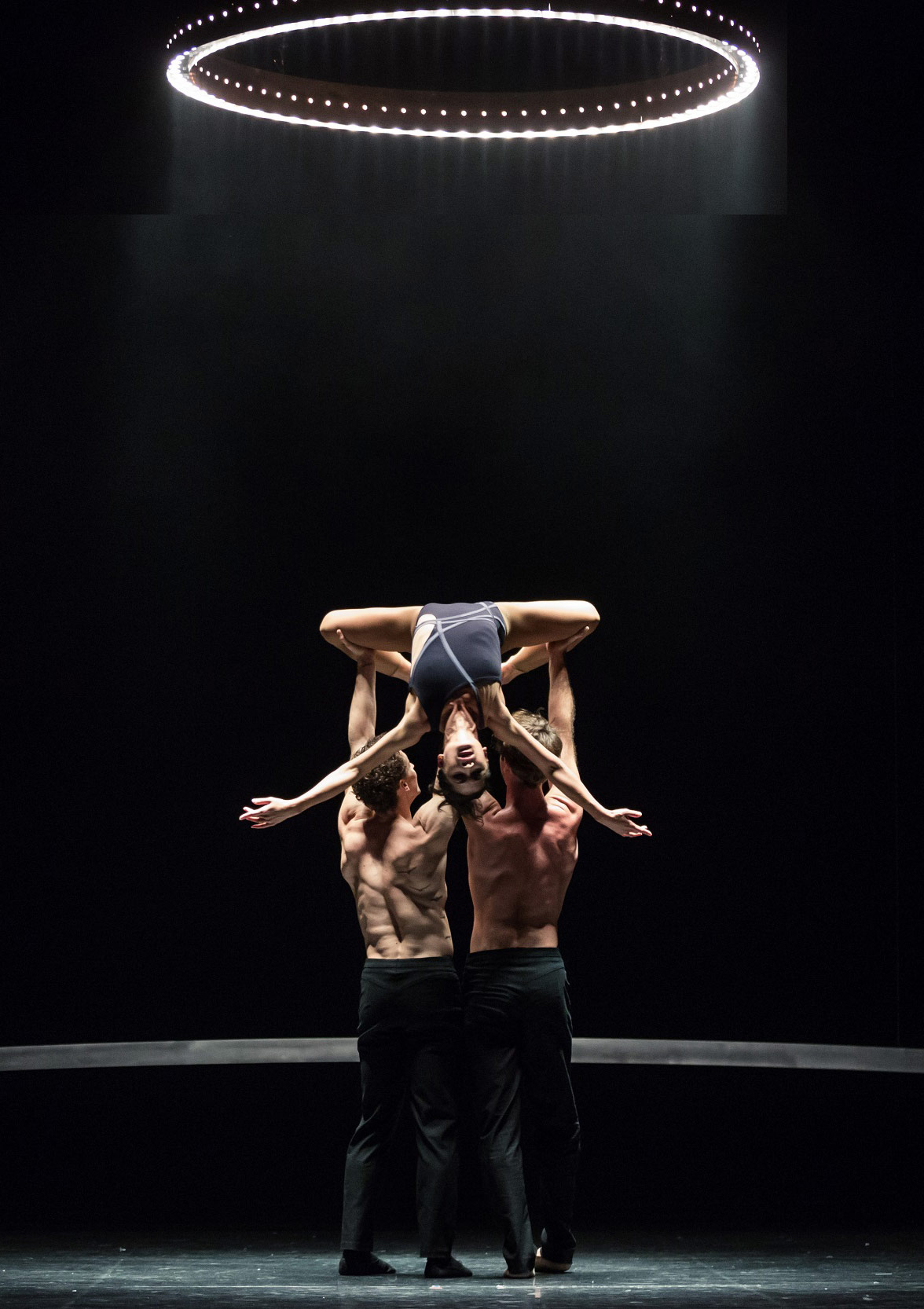 Kevin Jackson, Vivienne Wong and Rudy Hawkes in Alice Topp's <I>Little Atlas</I>.<br />© Daniel Boud. (Click image for larger version)