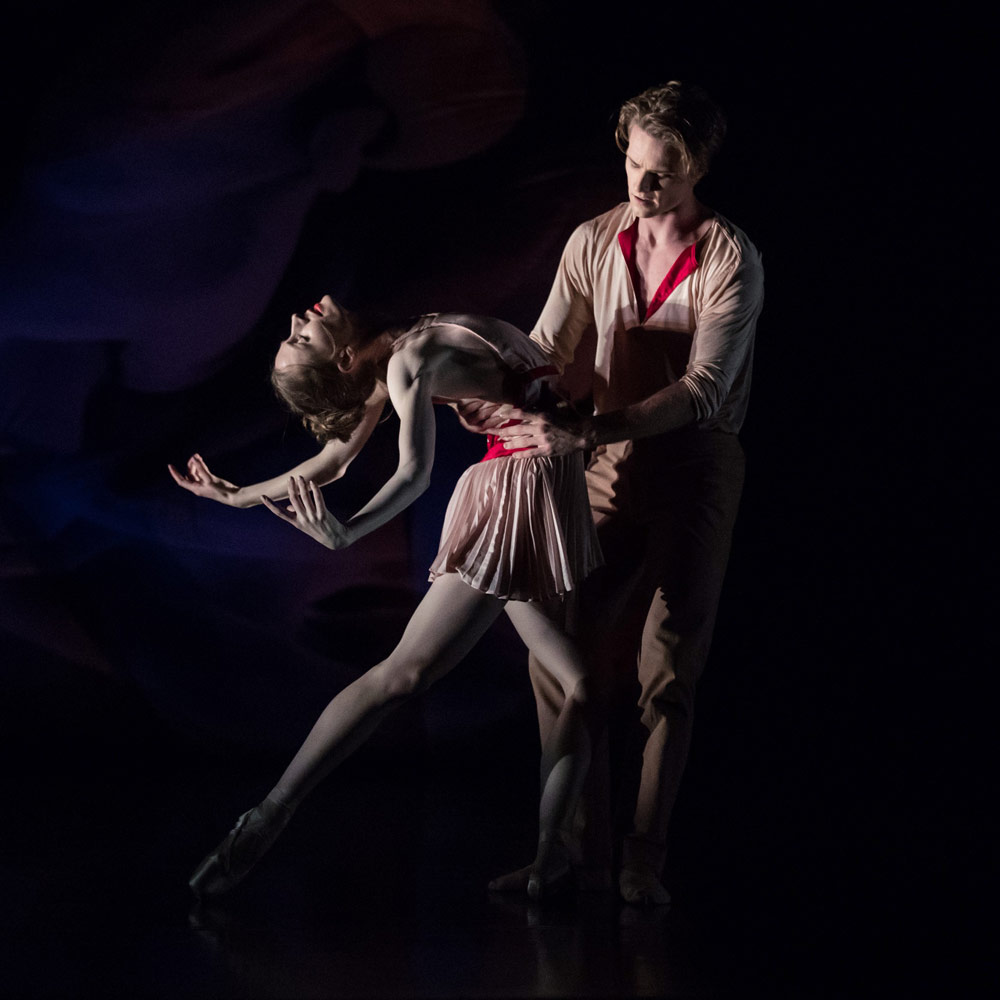 Amanda McGuigan and Christopher Rodgers-Wilson in Richard House's <I>Scent of Love</I>.<br />© Daniel Boud. (Click image for larger version)