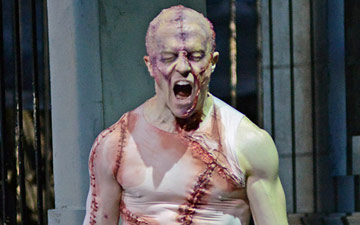 Steven McRae (The Creature) in Liam Scarlett's Frankenstein.© Dave Morgan, courtesy the Royal Opera House. (Click image for larger version)
