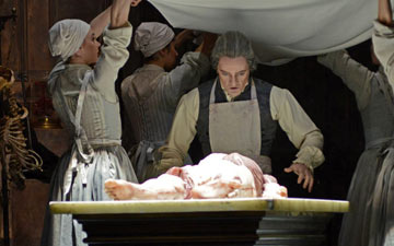 Thomas Whitehead in Liam Scarlett's Frankenstein.© Dave Morgan, courtesy the Royal Opera House. (Click image for larger version)