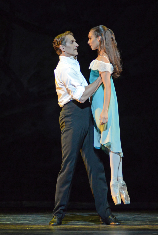 Gary Avis and Francesca Hayward in The Invitation.© Dave Morgan, courtesy the Royal Opera House. (Click image for larger version)