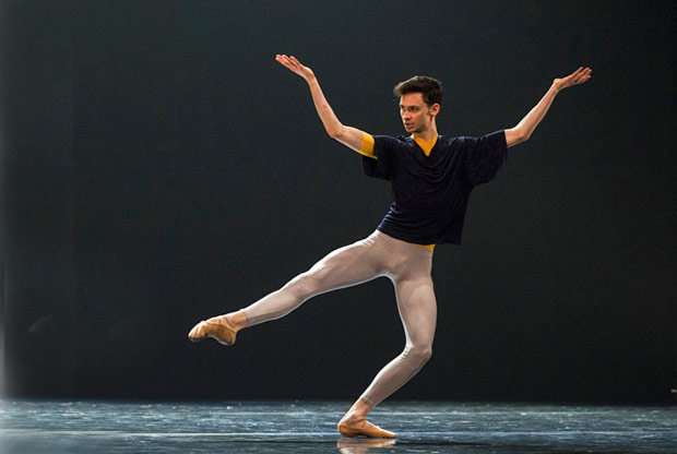 Gregory Lau in Hans van Manen's <I>Solo</I>.<br />© Foteini Christofilopoulou. (Click image for larger version)