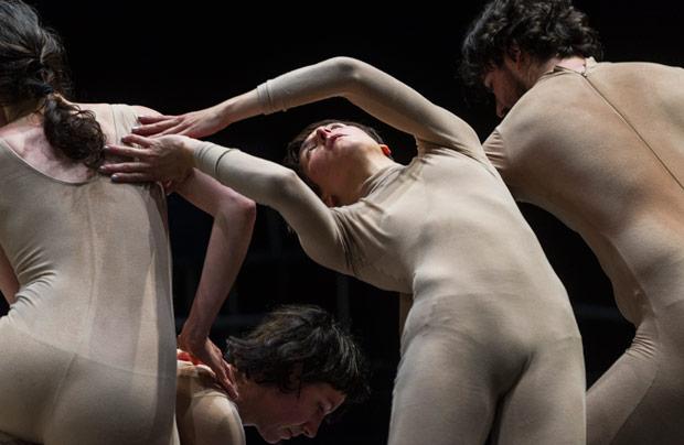 Eveline Van Bauwel, Manon Santkin, Cecilia Lisa Eliceche and Michael Helland in <I>Unison</I>.<br />© Foteini Christofilopoulou. (Click image for larger version)