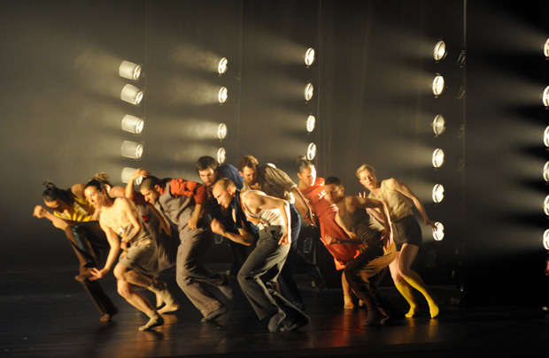 Hofesh Shechter Company in <I>Political Mother</I>.<br />© Gabriele Zucca. (Click image for larger version)