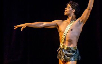 Carlos Acosta as Actaeon.© Johan Persson. (Click image for larger version)