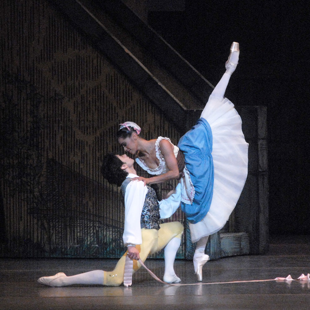 Misty Copeland and Herman Cornejo in La Fille mal gardée.© MIRA. (Click image for larger version)