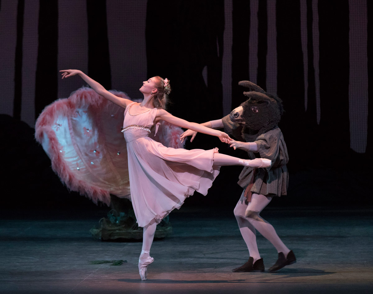 Miriam Miller and Cameron Diecka in Midsummer Night's Dream.© Paul Kolnik. (Click image for larger version)