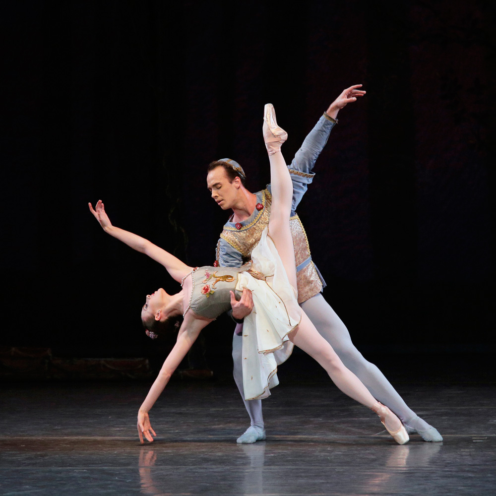 Tiler Peck and Tyler Angle in Midsummer Night's Dream.© Paul Kolnik. (Click image for larger version)