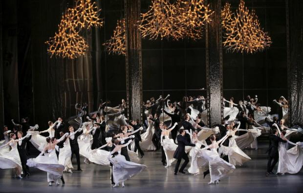New York City Ballet in <I>Vienna Waltzes</I>.<br />© Paul Kolnik. (Click image for larger version)