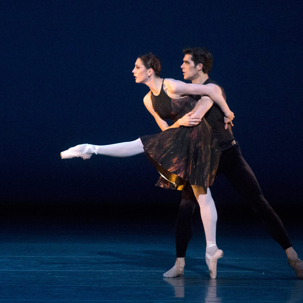 Veronika Part and Roberto Bolle in Symphony #9 part of Shostakovich Trilogy. © Rosalie O'Connor. (Click image for larger version)
