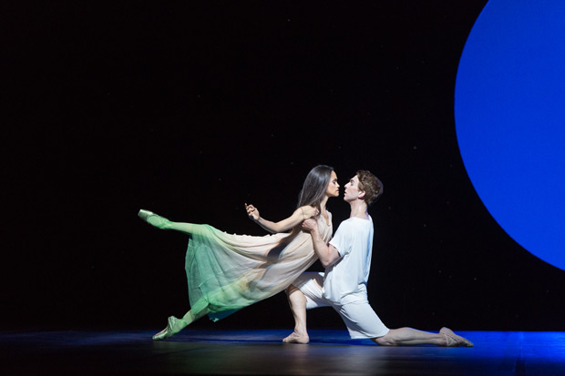 Tanya Howard and Dylan Tedaldi in <I>Le Petit Prince</I>.<br />© Aleksandar Antonijevic. (Click image for larger version)