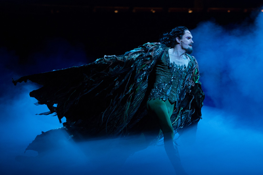 James Streeter as Rothbart in Swan Lake.© ASH. (Click image for larger version)