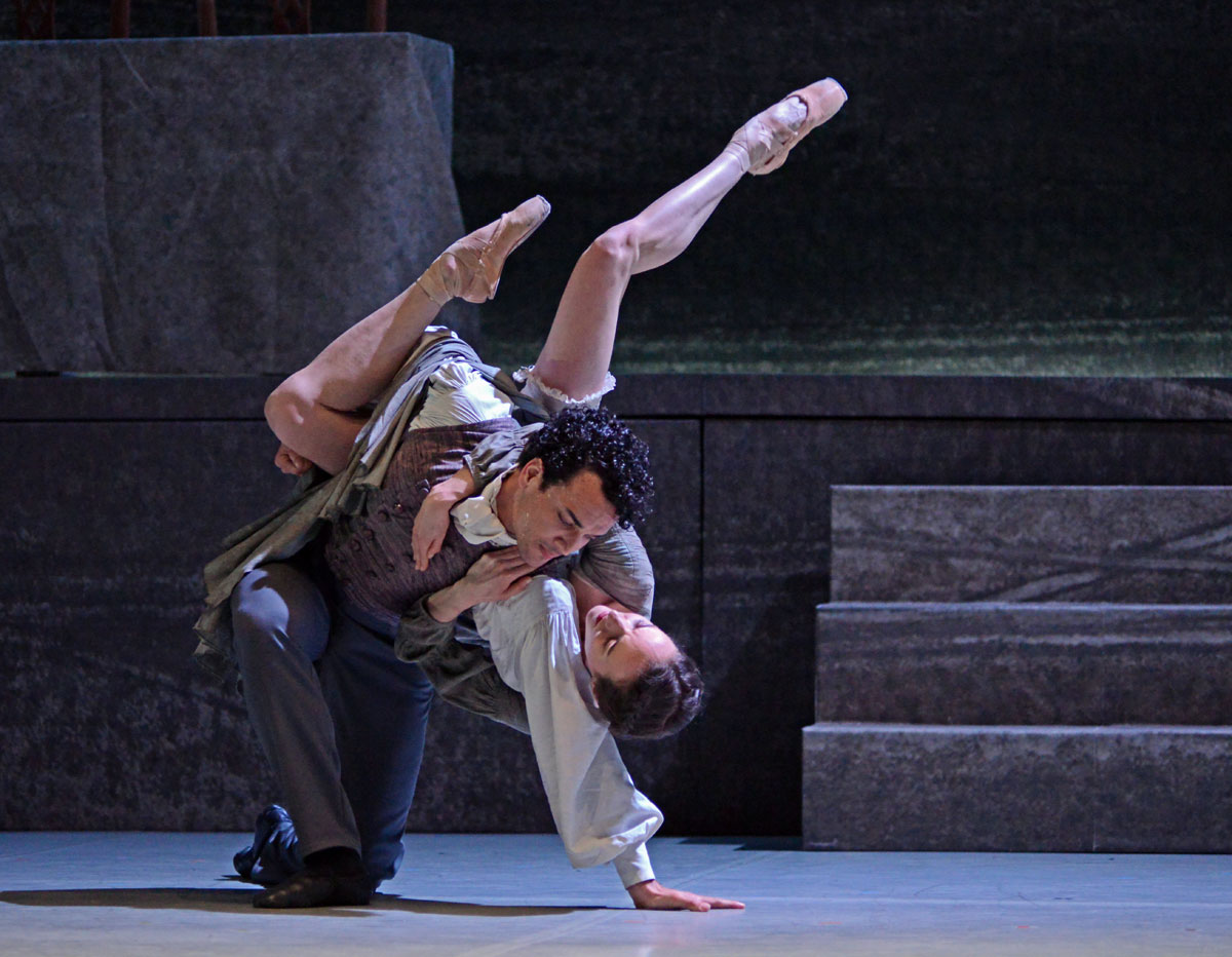 Dreda Blow and Javier Torres in Jane Eyre.© Dave Morgan. (Click image for larger version)