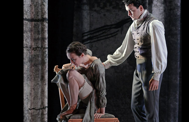 Dreda Blow and Javier Torres in <I>Jane Eyre</I>.<br />© Dave Morgan. (Click image for larger version)