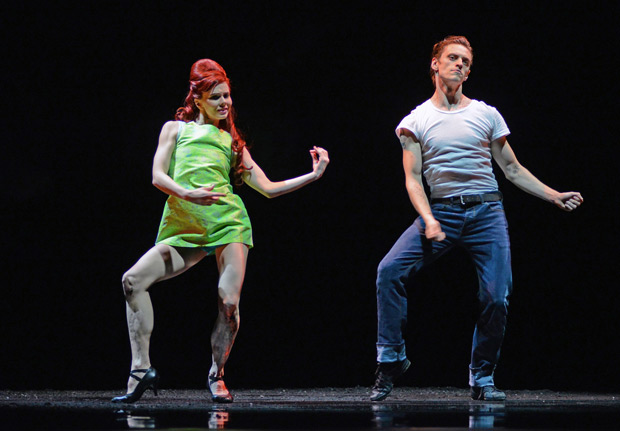 Natalia Osipova and Sergei Polunin in Arthur Pita's <I>Run Mary, Run</I>.<br />© Dave Morgan. (Click image for larger version)