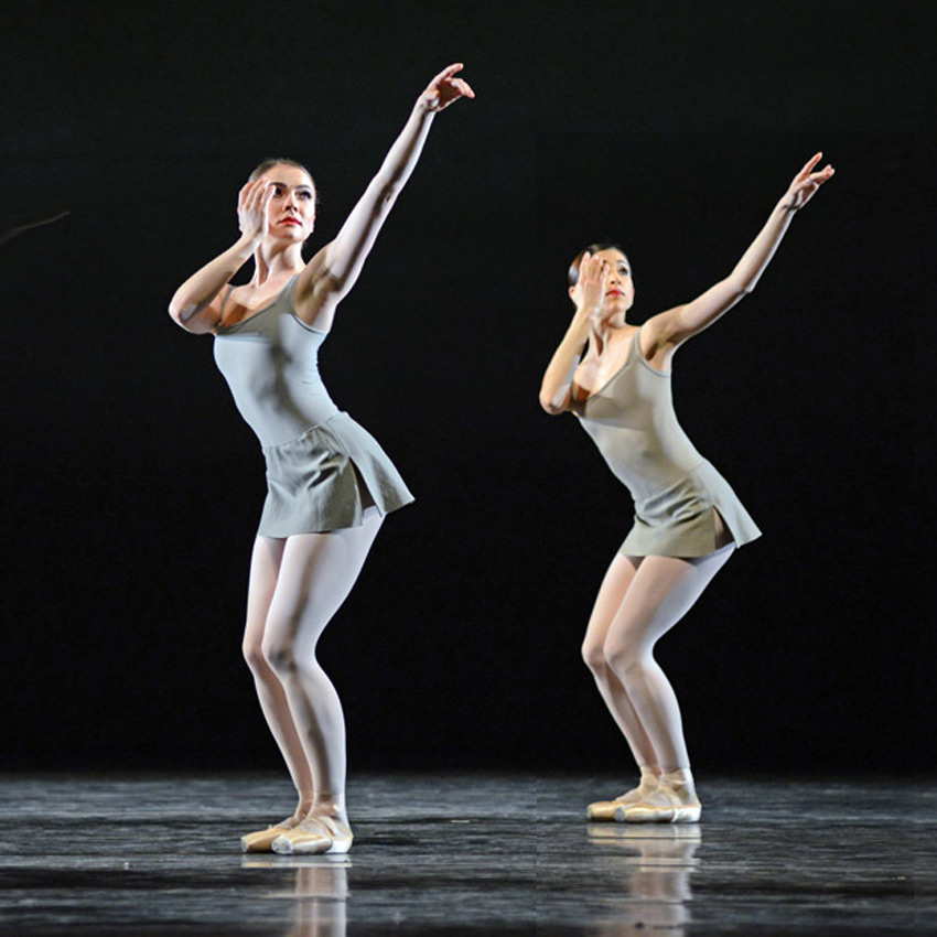 Claire Calvert and Yasmine Naghdi in <I>Song of the Earth</I>.<br />© Dave Morgan, courtesy the Royal Opera House. (Click image for larger version)