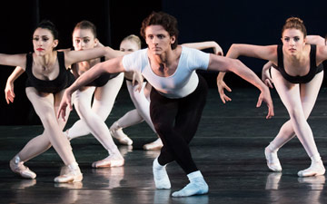 Ethan Fuller in The Four Temperaments (First Variation: Melancholic), choreography by George Balanchine © The George Balanchine Trust.© Paul Kolnik. (Click image for larger version)