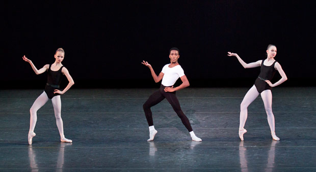Kennard Henson in <I>The Four Temperaments</I> (Third Variation: Phlegmatic), choreography by George Balanchine © The George Balanchine Trust.<br />© Paul Kolnik. (Click image for larger version)
