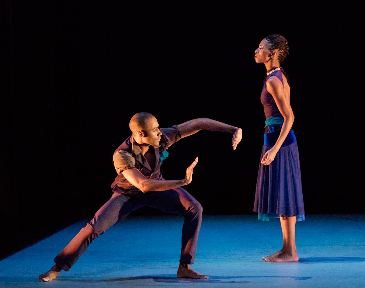 Yannick Lebrun and Jacqueline Green in Ronald K. Brown's Open Door.© Paul Kolnik. (Click image for larger version)