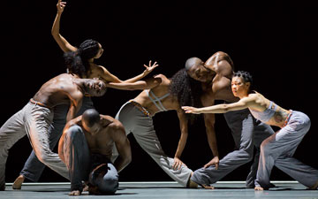 Alvin Ailey American Dance Theater in Abraham's Untitled America: Second Movement.© Paul Kolnik. (Click image for larger version)