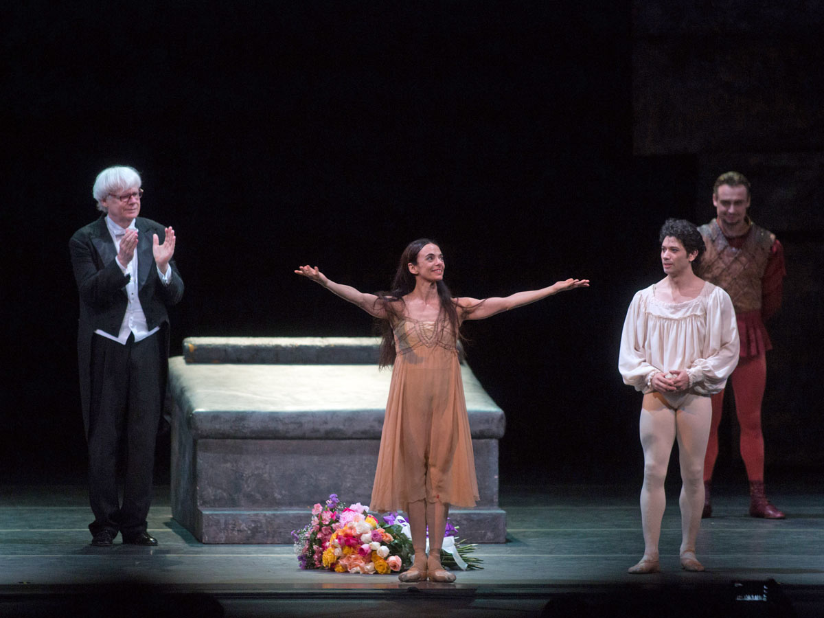 Alessandra Ferri at the curtain call for <I>Romeo and Juliet</I>.<br />© Rosalie O'Connor. (Click image for larger version)
