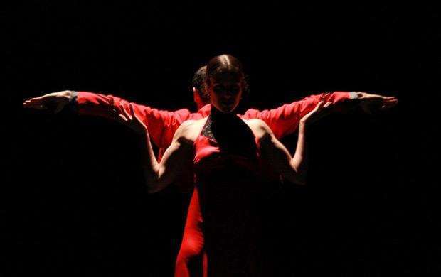Maria Vega Dance Company in <I>A Dancer's Journey</I>.<br />© David Cancelado. (Click image for larger version)