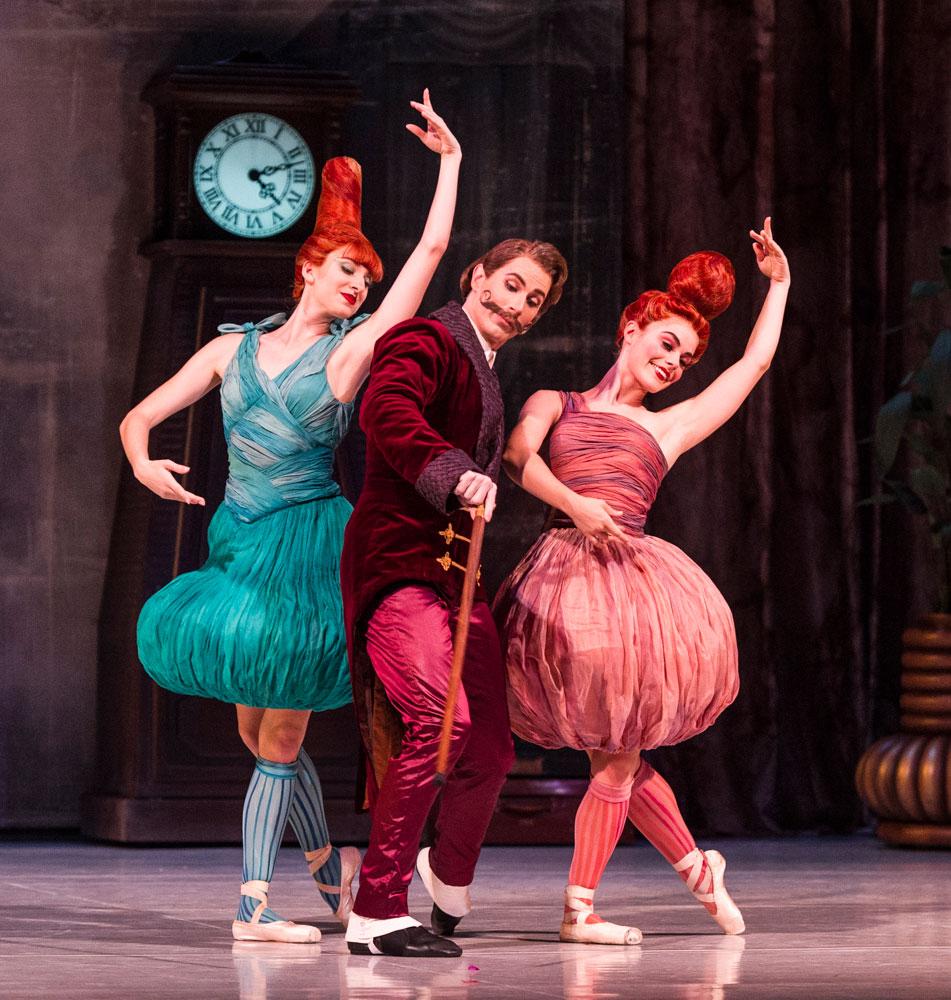Ingrid Gow, Ben Davis and Eloise Fryer in Cinderella.© Foteini Christofilopoulou. (Click image for larger version)