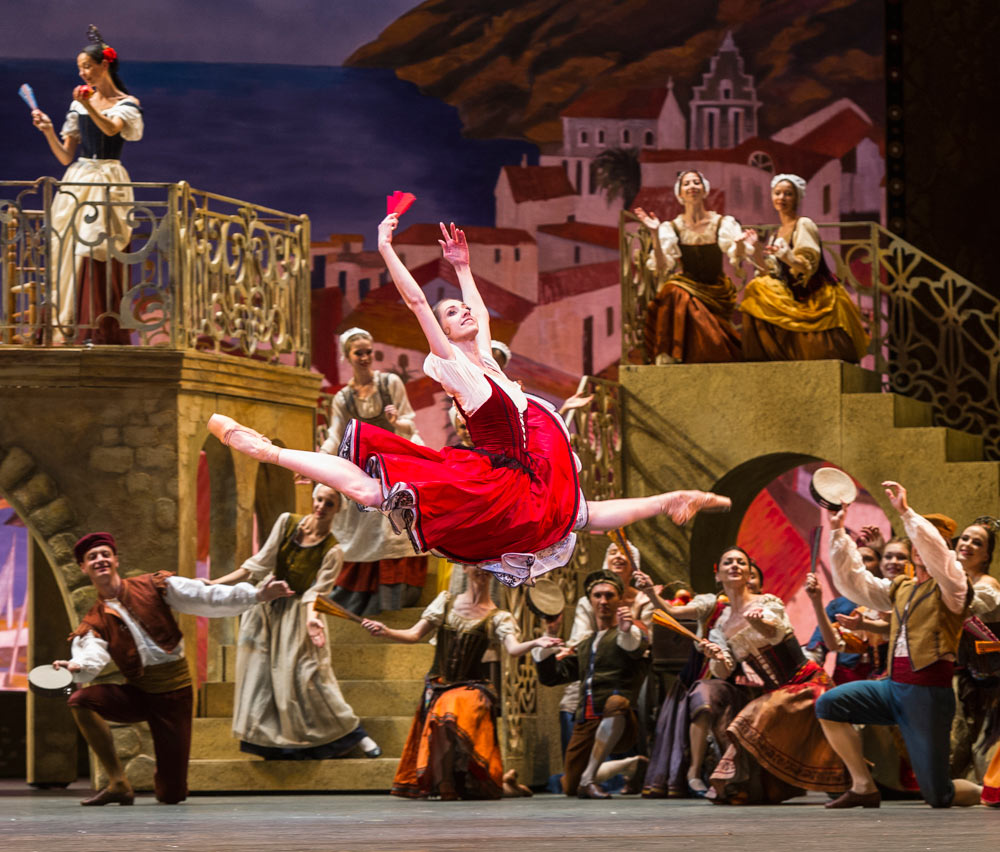 Margarita Shrainer (Kitri) in Don Quixote.© Foteini Christofilopoulou. (Click image for larger version)