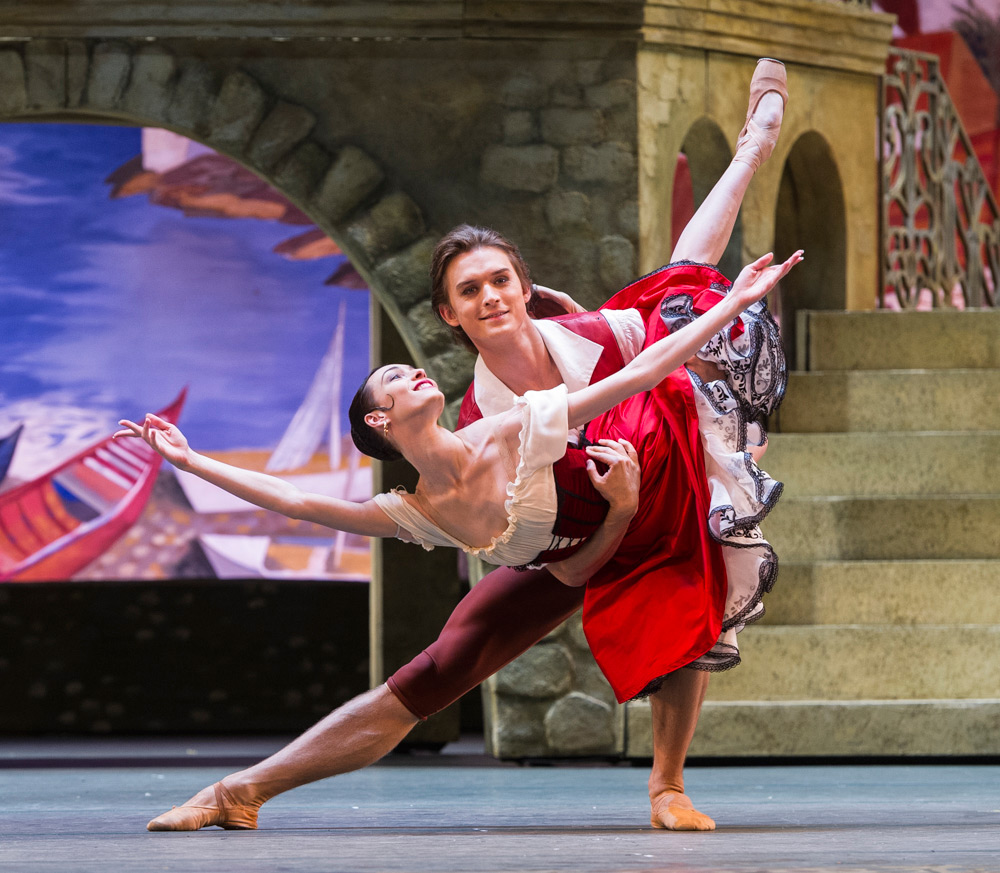 Olga Smirnova and Danis Rodkin (Kitri & Basil) in Don Quixote.© Foteini Christofilopoulou. (Click image for larger version)