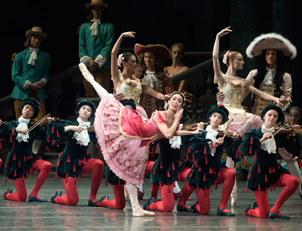 Stella Abrera in <I>The Sleeping Beauty</I>.<br />© Gene Schiavone. (Click image for larger version)