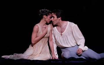 Karina Gonzalez and Connor Walsh in Romeo and Juliet.© Jeff Busby. (Click image for larger version)