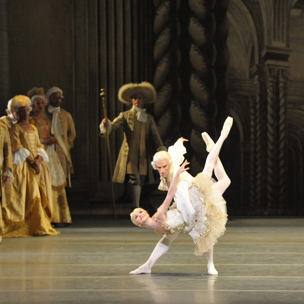 Cassandra Trenary and James Whiteside in The Sleeping Beauty.© John Grigaitis. (Click image for larger version)