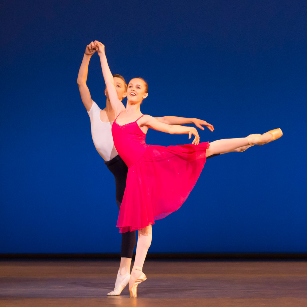 Madison Bailey and James Large in <I>Allegro de Jeunesse</I>.<br />© Johan Persson. (Click image for larger version)
