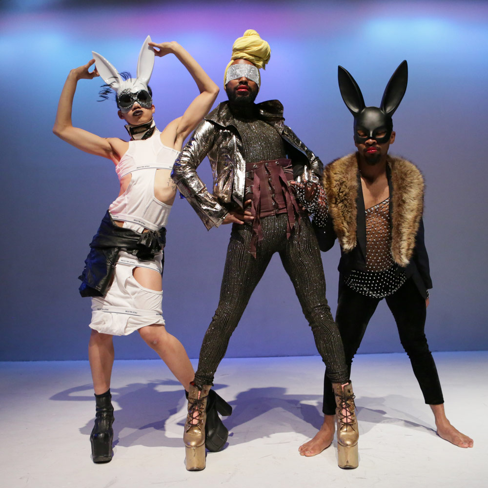 """HYPERBOLIC! publicity image with Benedict Nguyen, Monstah Black & Johnnie """"Cruise"""" Mercer.© Peter Yesley. (Click image for larger version)"""
