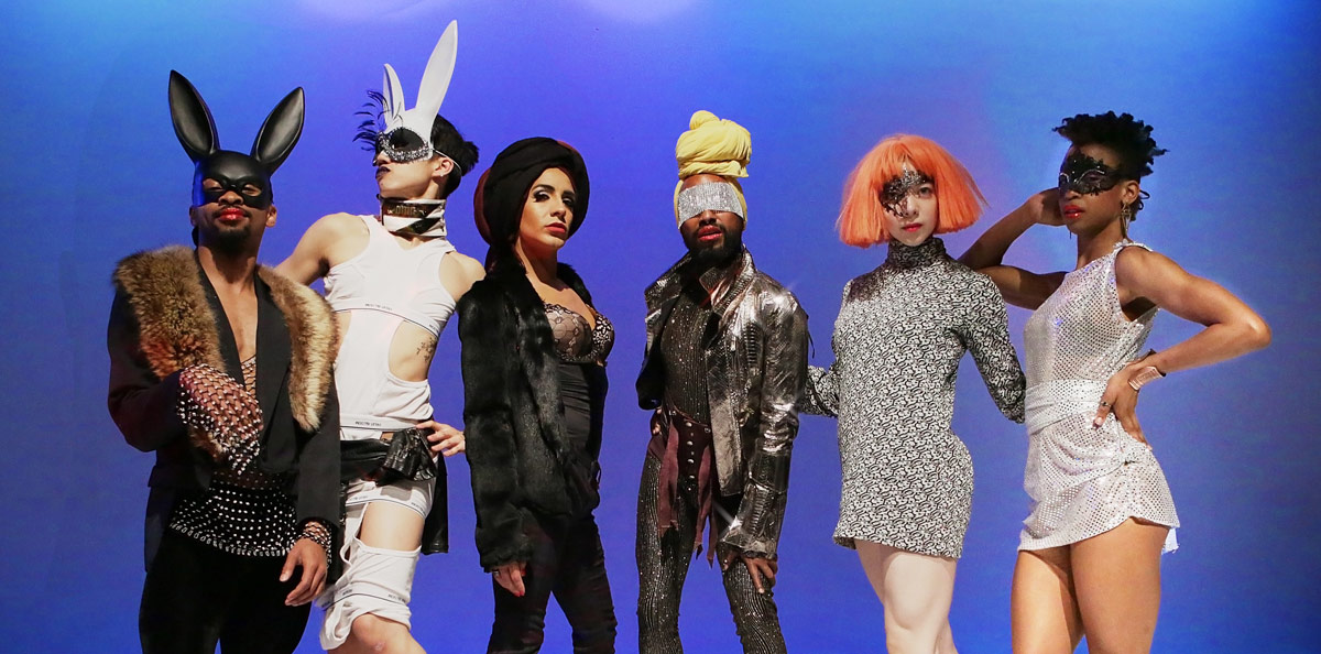 """HYPERBOLIC! publicity image with Johnnie """"Cruise"""" Mercer, Benedict Nguyen, Joey Cuellar, Monstah Black, Shiloh Hodges & Alicia Dellimore.© Peter Yesley. (Click image for larger version)"""