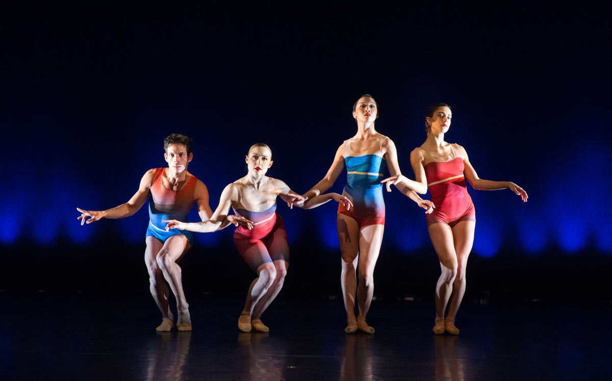 Edgar Anido, Chloe Felesina, Caili Quan and Francesca Forcella in <I>Show Me</I> by Matthew Neenan.<br />© Alexander Iziliaev. (Click image for larger version)