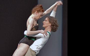 Ekaterina Krysanova and Vladislav Lentratov in Taming of the Shrew.© Dave Morgan. (Click image for larger version)