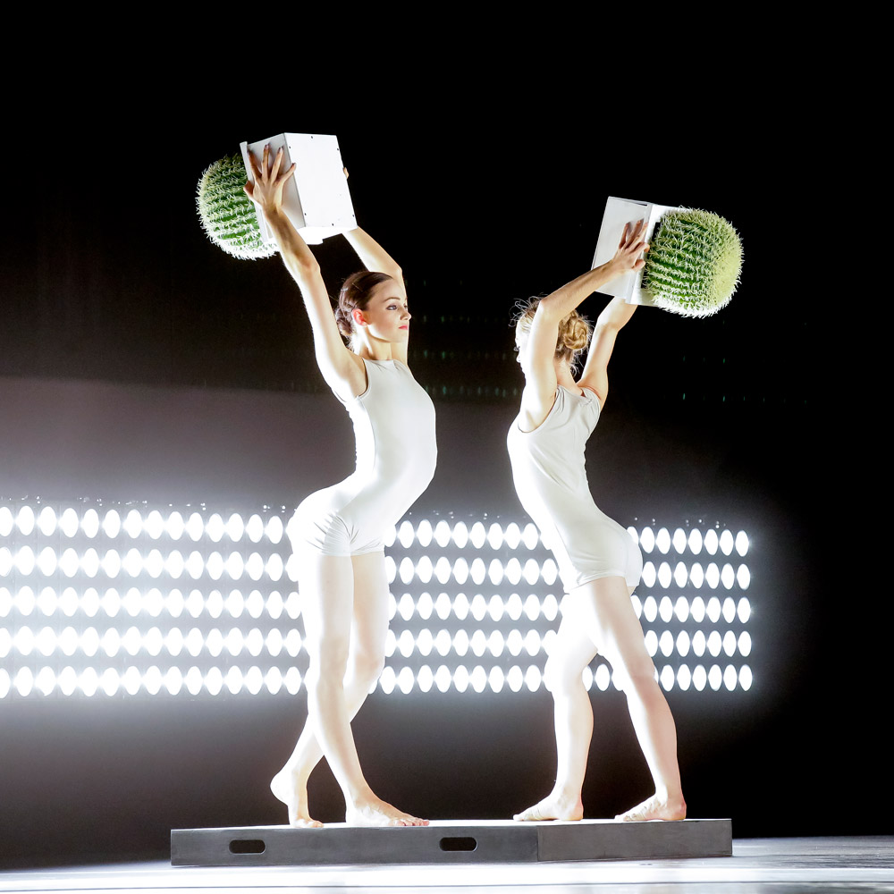 Georgia Powley and Leonora Voigtlander in Alexander Ekman's <I>Cacti</I>.<br />Part of the RNZB <I>Speed of Light</I> bill.<br />© Maarten Holl. (Click image for larger version)