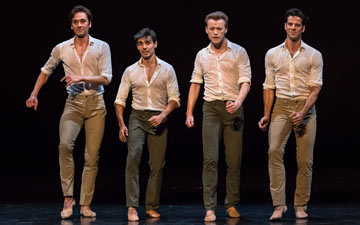 Joaquin De Luz, Friedemann Vogel, Denis Matvienko and Marcelo Gomes in Tristesse.© Michael Khoury. (Click image for larger version)