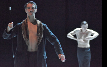 David Rodriguez (as Diaghilev) in NIJINSKI.© Regina Brocke. (Click image for larger version)