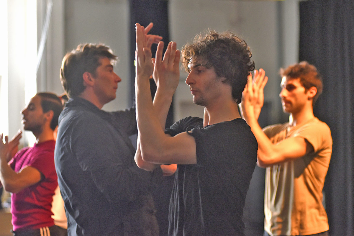 Marco Goecke and Maurus Gauthier in the studio.© Regina Brocke. (Click image for larger version)